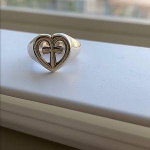 James Avery Eternal Love Cross Ring Sz 6